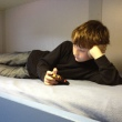 Sam on his bunk